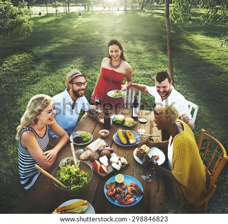 Diverse People Party Togetherness Friendship Concept - stock photo