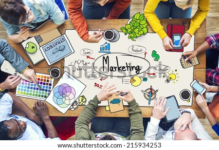 Diverse People Working and Marketing Concept - stock photo