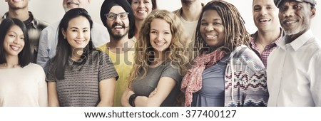 Diverse Smiling People Staff Team Community Concept - stock photo