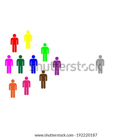 diversity and difference image illustration - stock photo