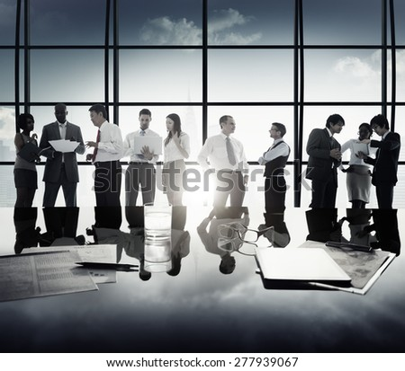 Diversity Business People Corporate Discussion Meeting Concept - stock photo