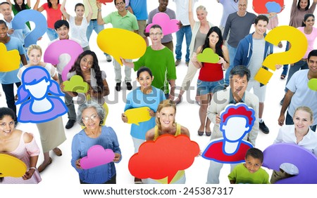 Diversity Casual People Social Media Community Sharing Concept - stock photo
