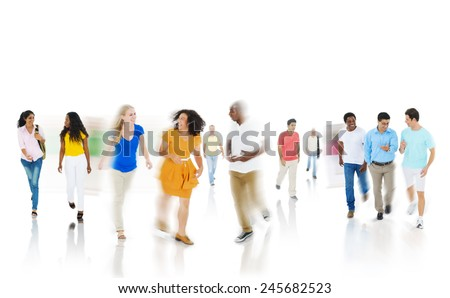 Diversity Community Casual People Happiness Discussion Concept - stock photo