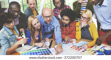 Diversity People Brainstorming Discussion Design Concept - stock photo