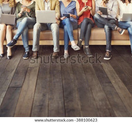 Diversity People Connection Digital Devices Browsing Concept - stock photo