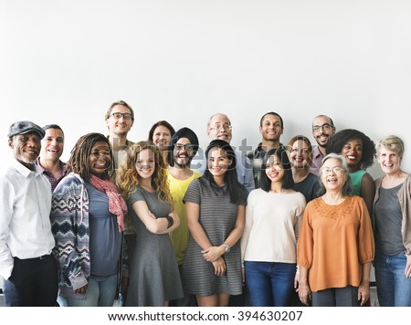 Diversity People Group Team Union Concept - stock photo