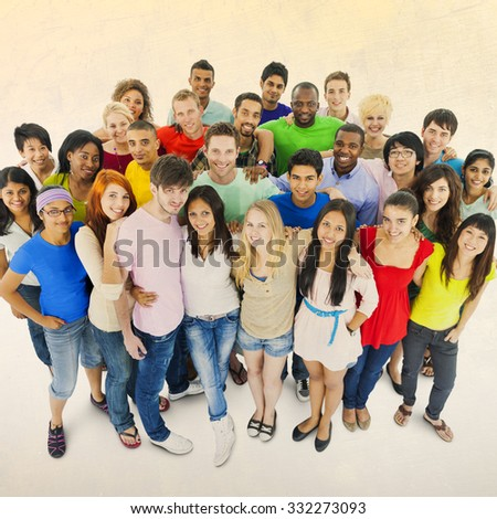 Diversity Students Teamwork Youth Culture Concept - stock photo