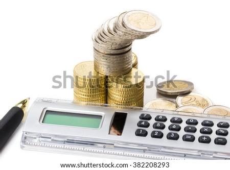 Divide money, budget - stock photo