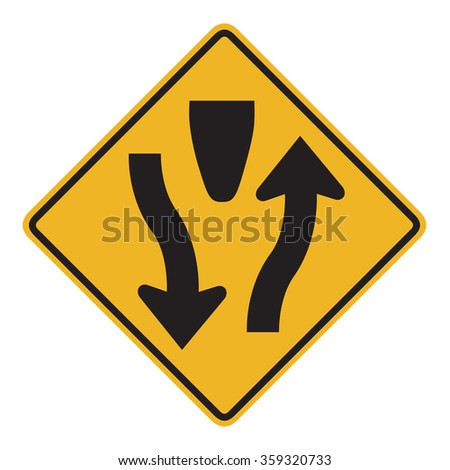 Divided Highway - stock photo
