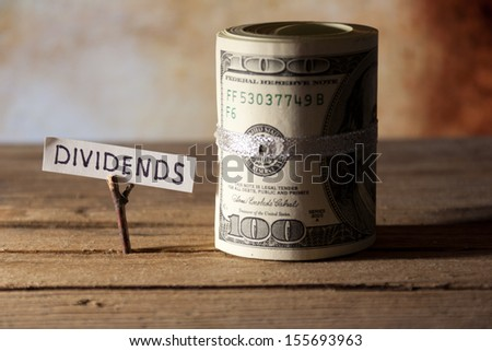 dividends concept - stock photo