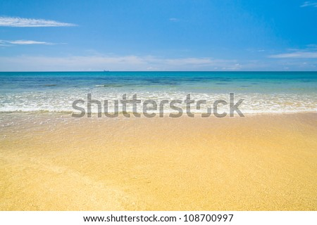 Divine Coastline Serene Waters - stock photo