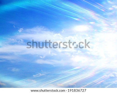 Divine sky - stock photo