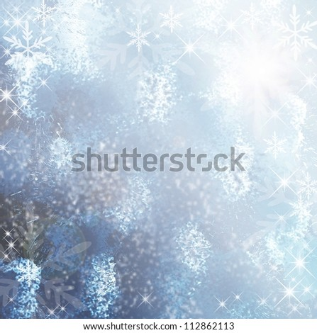 Divine winter background - stock photo