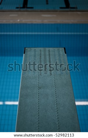 diving board - stock photo