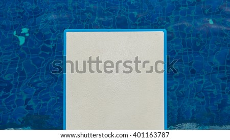 Diving board, swimming pool - stock photo