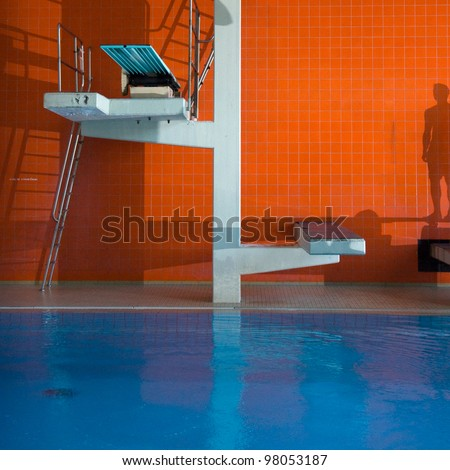 Diving platform - stock photo
