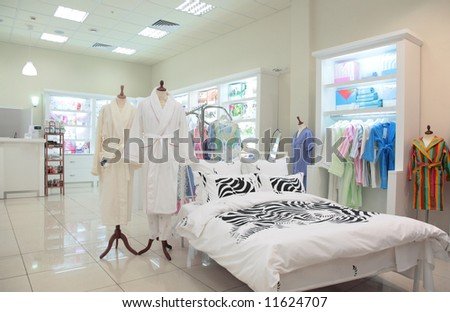 division of sleeping equipment in  store - stock photo