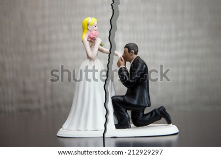 Divorce of a married couple - stock photo