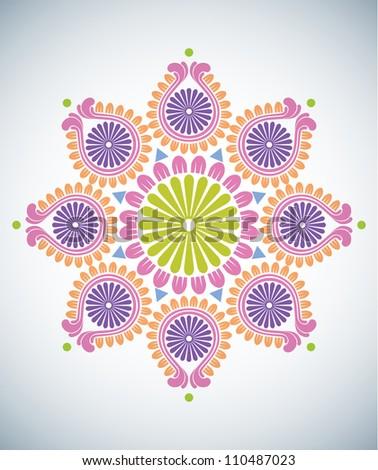 Diwali Kolam Patterns - stock photo