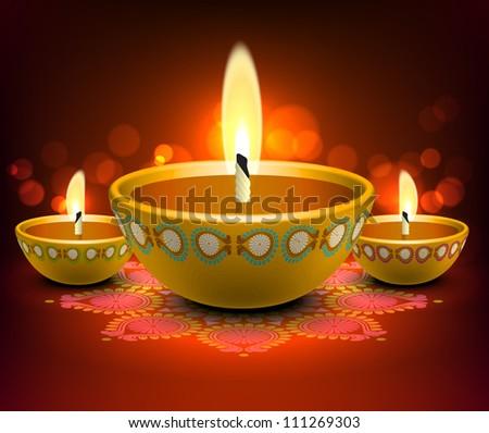 Diwali Oil Lamp - stock photo