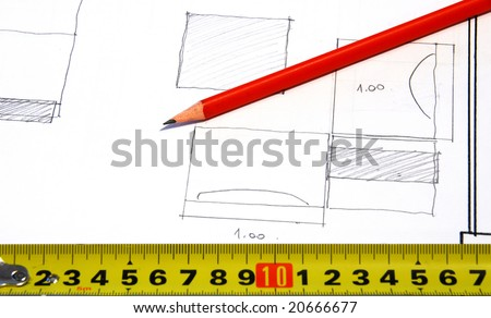 DIY drawings - stock photo