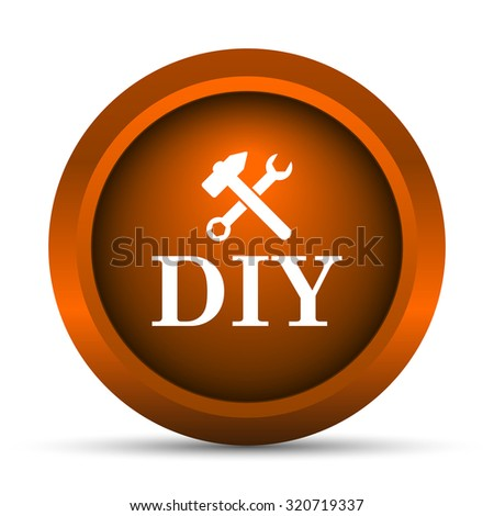 DIY icon. Internet button on white background.  - stock photo