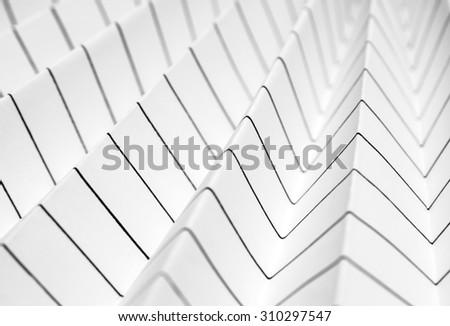 dizzy background of folded stripy paper - stock photo