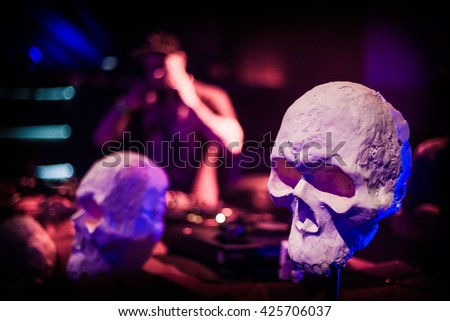 DJ hardcore - stock photo