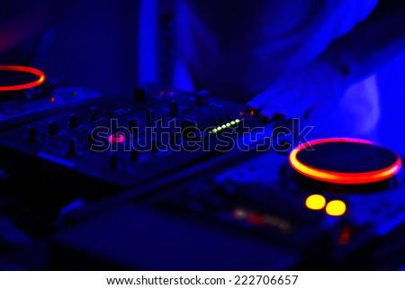 DJ Music night club - stock photo