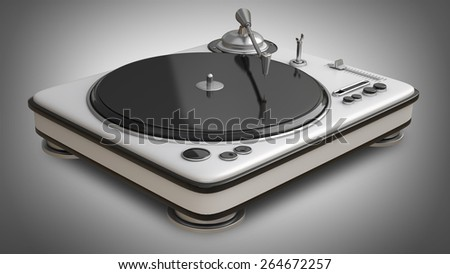 DJ Turntable. High resolution 3d - stock photo