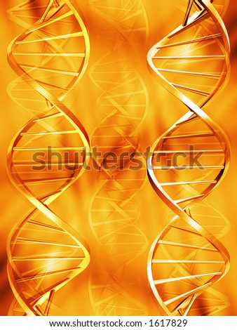 DNA abstract - stock photo