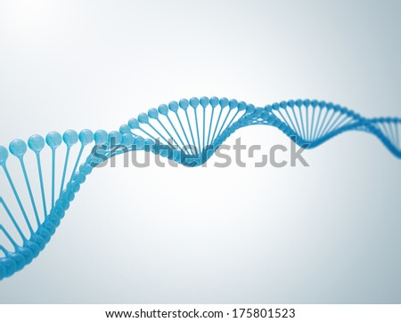 DNA 3d illustration. High resolution 3d render  - stock photo
