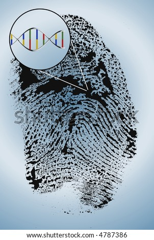 DNA extract from finger print - stock photo