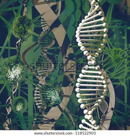DNA illustration - stock photo