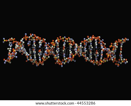 Dna Background Black Dna Isolated on Black