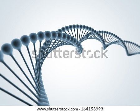 DNA isolated on white  - stock photo