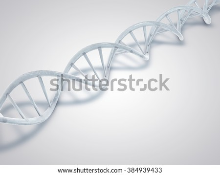 DNA made from ice. Frozen DNA double helix molecules.  - stock photo