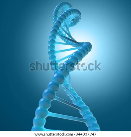 DNA molecule model - stock photo