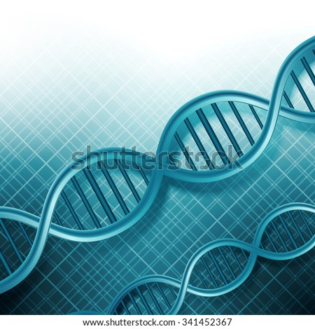 DNA Molecules Background - stock photo