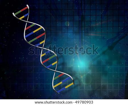 DNA Puzzle - stock photo