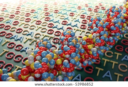DNA sequencing concept illustration - stock photo