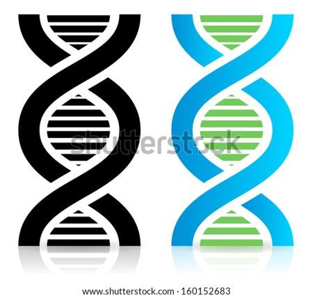 DNA strand icon (raster version) - stock photo