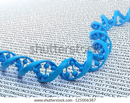 DNA strand sequencing concept illustration - stock photo