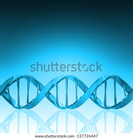DNA structure model - stock photo