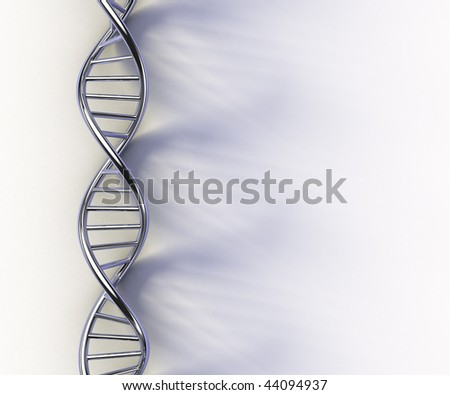 DNA structure model on white surface - stock photo