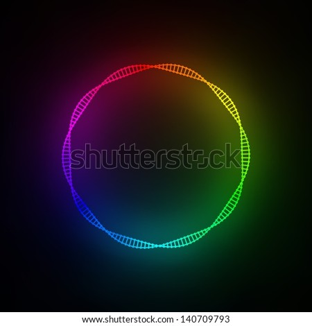 DNA type color palette - stock photo