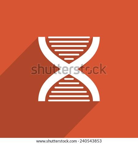 DNA web flat icon illustration. - stock photo