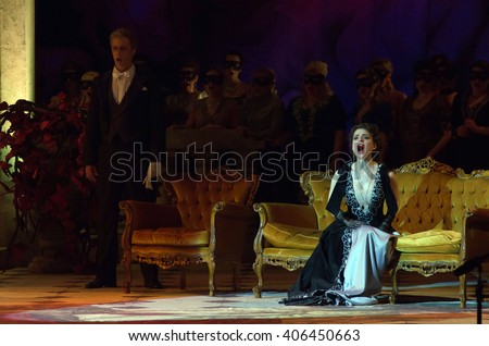 DNIPROPETROVSK, UKRAINE - APRIL 15, 2016: Traviata opera