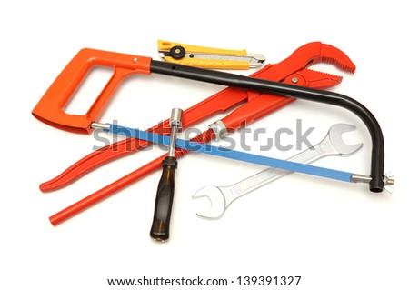 do it yourself  tools isolated - stock photo