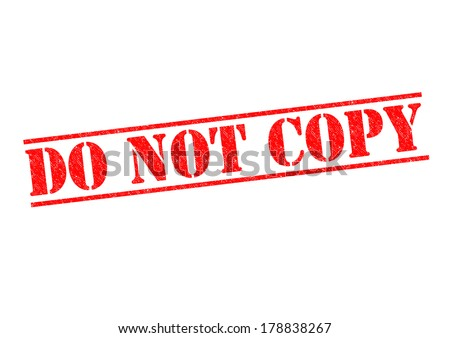 DO NOT COPY red Rubber Stamp over a white background. - stock photo